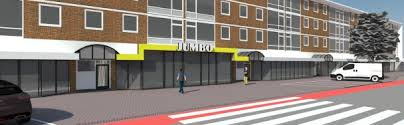 JUMBO Overwinningsplein-Flemingstraat met parkeergarage