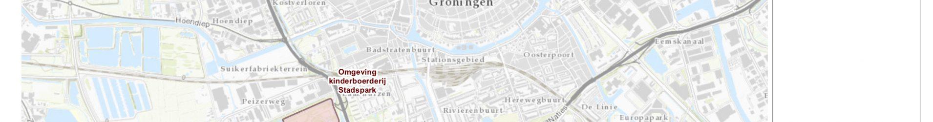 Overzichtskaart vuurwerkvrije zones 2018, gemeente Groningen.